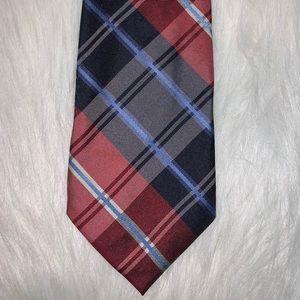 Nautica red blue silk tie A17